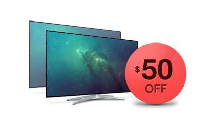 $50 OFF on 2nd and Up TVs